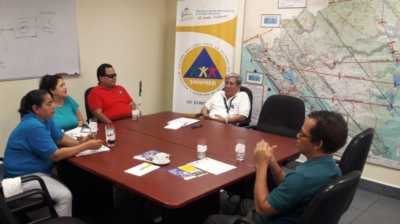 Nicaragua se compromete con la inclusión de personas con discapacidad en la gestión del riesgo