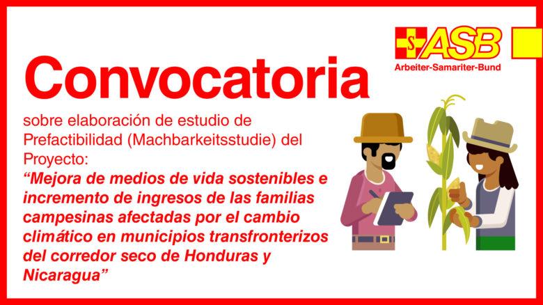 """Estudio de Prefactibilidad (Machbarkeitsstudie) del Proyecto """"Mejora de medios de vida sostenibles e incremento de ingresos de las familias campesinas afectadas por el cambio climático en municipios transfronterizos del corredor seco de Honduras y Nicaragua"""" 2020-2023"""
