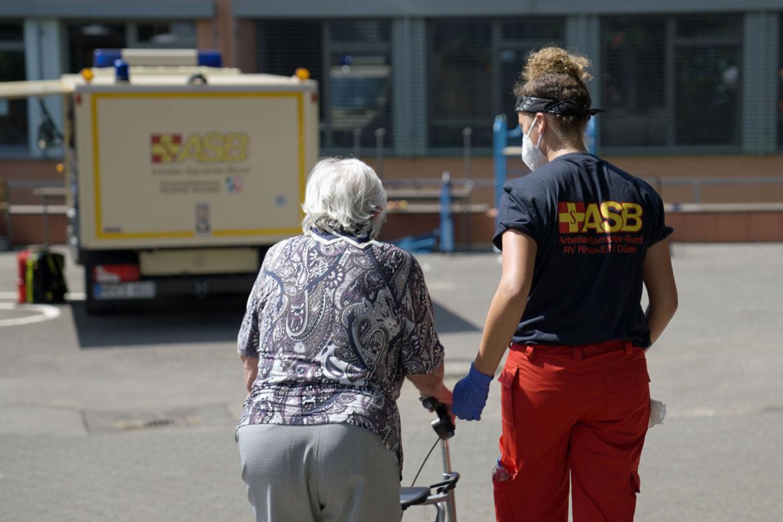 ASB ayuda en las inundaciones de Nordrhein-Westfalen y Rheinland-Pfalz en Alemania